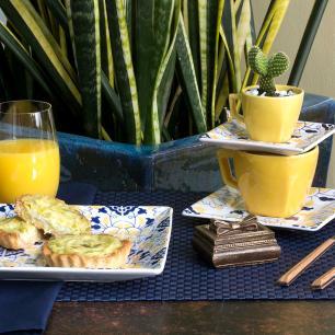 Conjunto de 6 Pratos Sobremesa 20x20cm Quartier Sevilha