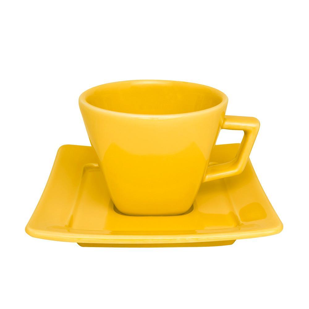 Aparelho de Jantar Chá E Café 42 Peças Nara Yellow