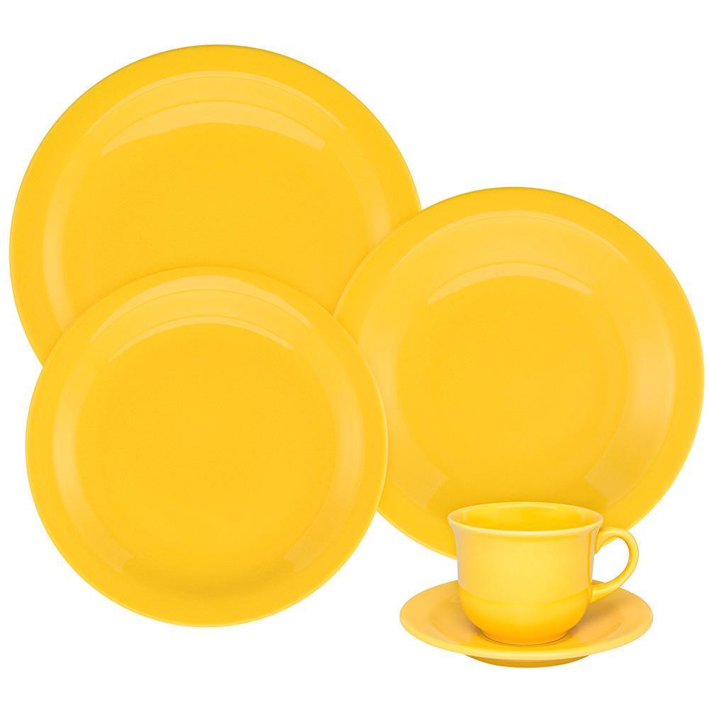 Aparelho de Jantar E Chá 30 Peças Floreal Yellow