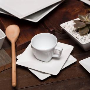 Aparelho de Jantar E Chá 20 Peças Quartier White