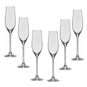 Conjunto de 6 Taças De Cristal Espumante 210ml Forever Classic