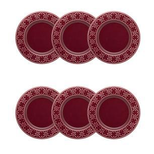 Conjunto de 6 Pratos Sobremesa 20cm Mendi Corvina