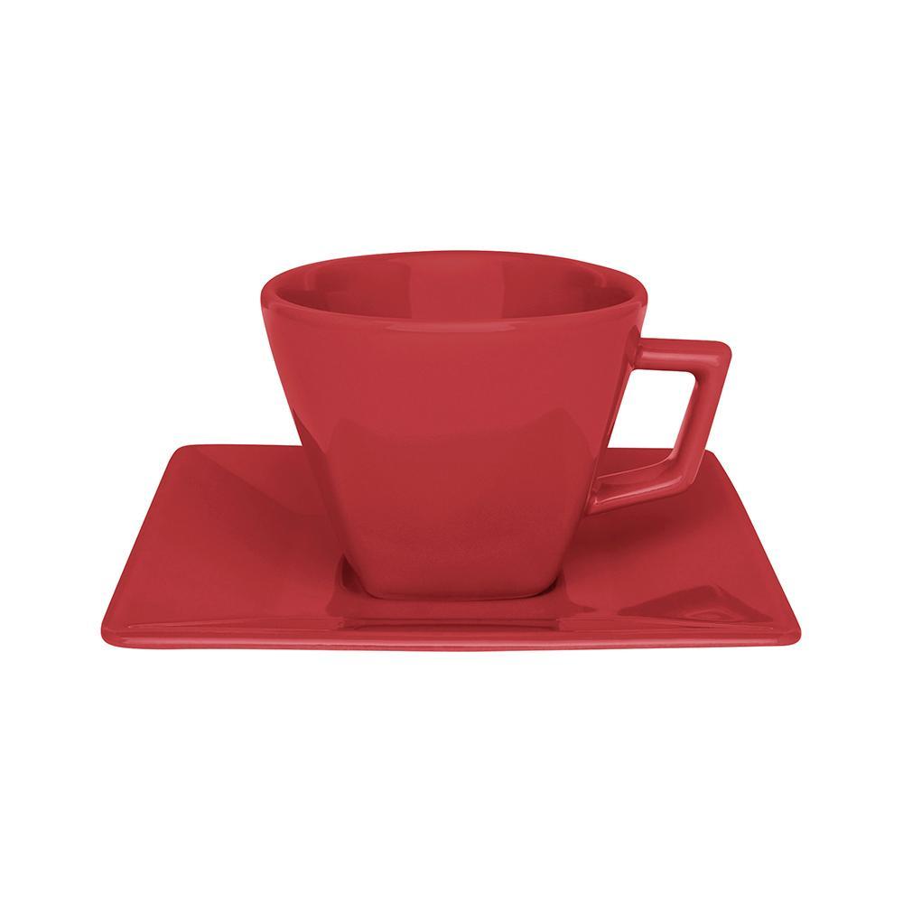 Aparelho de Jantar Chá E Café 42 Peças Quartier Red