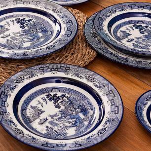 Aparelho de Jantar E Chá 30 Peças Flamingo Blue Willow