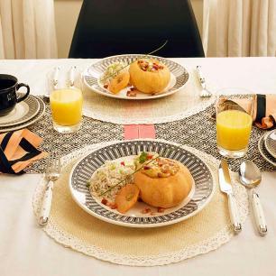 Aparelho de Jantar E Chá 20 Peças Actual Nativa