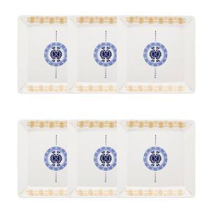 Conjunto de 6 Pratos Sobremesa 21x21cm Nara Focus