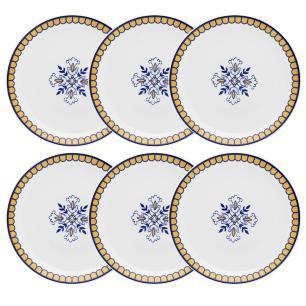 Conjunto de 6 Pratos Rasos 28cm Coup Lisboa