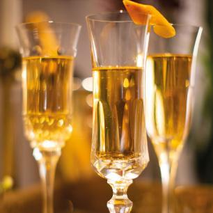 Jogo de 6 Taças em Cristal Strauss Champagne 210ml - 119.607.055