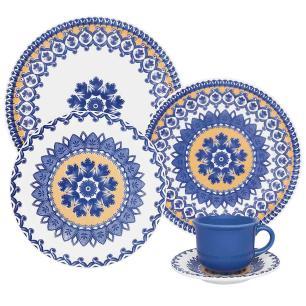 Aparelho de Jantar E Chá 30 Peças Floreal La Carreta