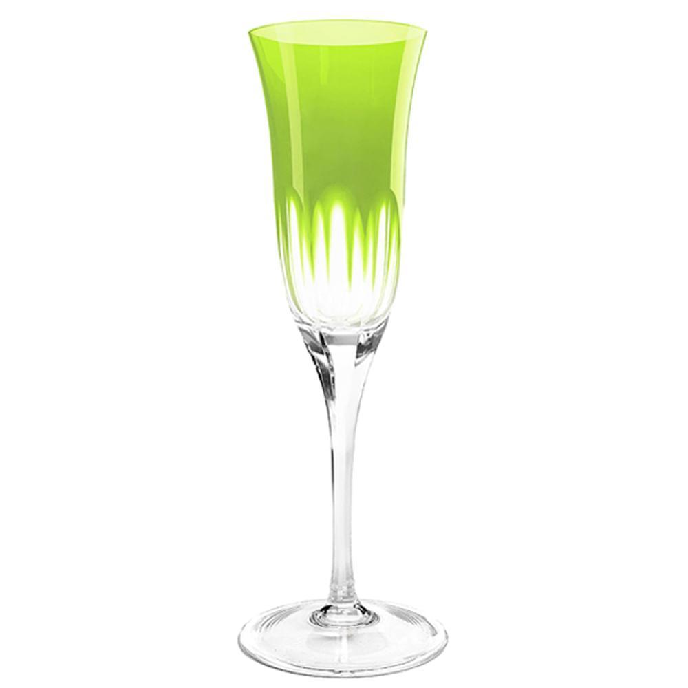 Taça de Cristal Strauss Champagne 190ml - Verde Claro - 225.107.045.011