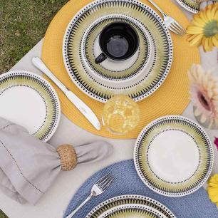 Aparelho de Jantar E Chá 30 Peças Actual Tie Dye