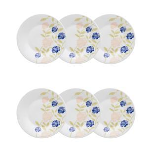 Conjunto de 6 Pratos Sobremesa 19cm Actual Azul Perfeito