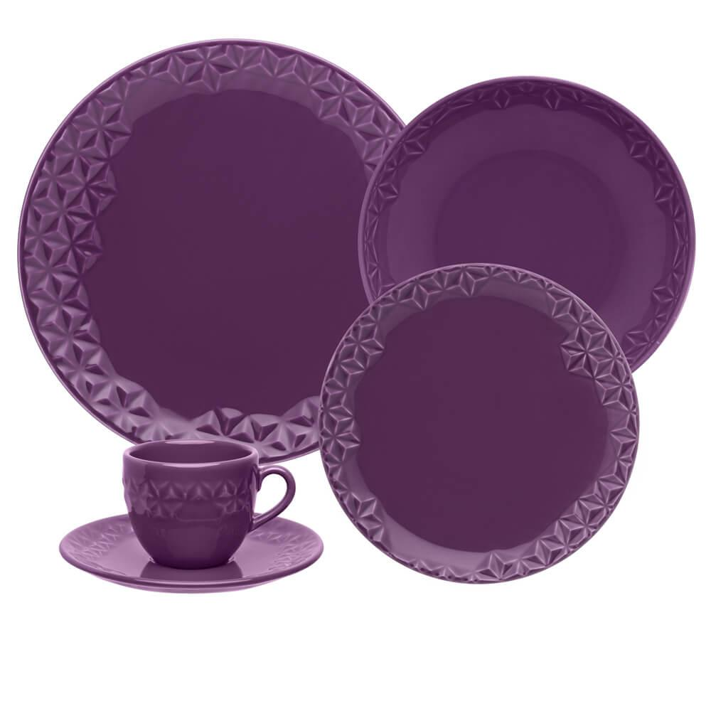 Aparelho de Jantar e Chá 30 peças Mia Estelar