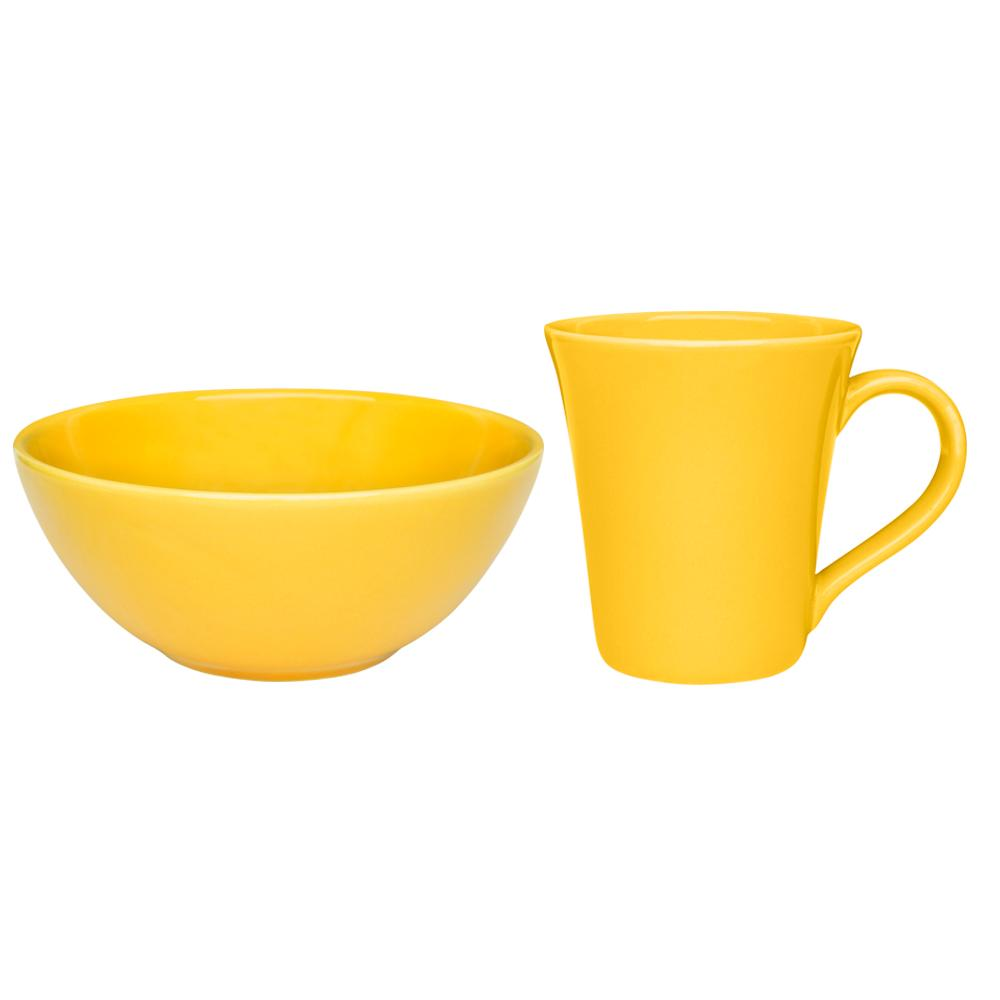 Conjunto Lanche de 2 Peças Amarelo