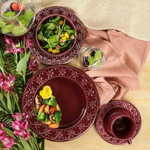 Aparelho de Jantar E Chá 30 Peças Mendi Corvina