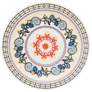 Conjunto de 6 Pratos Rasos 26cm Floreal La Pollera