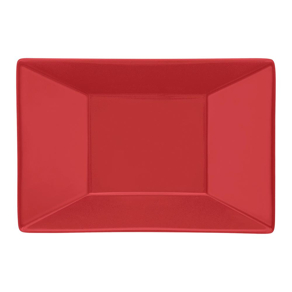 Conjunto de 6 Pratos Fundos 23,5x16cm Retangular Red