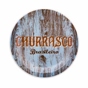 Conjunto Prato Churrasco Brasileiro Sortido 3 Peças