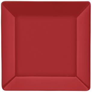 Conjunto de 6 Pratos Rasos 26,5x26,5cm Quartier Red