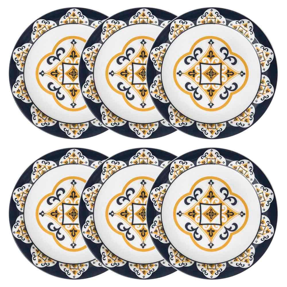 Conjunto de 6 Pratos Rasos 26cm Floreal São Luís