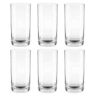 Jogo de 6 Copos De Cristal Long Drink 450ml Classic