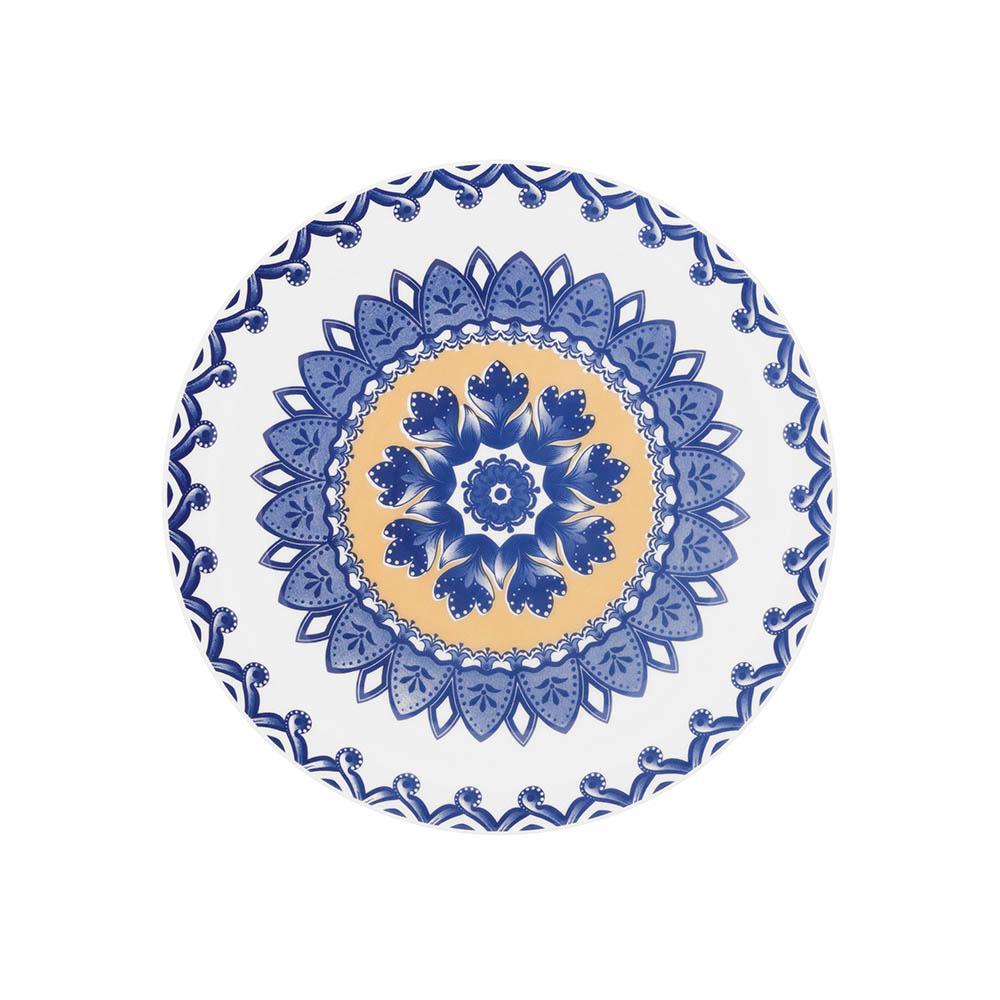 Conjunto de 6 Pratos Sobremesa 20cm Floreal La Carreta