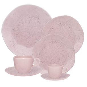 Aparelho de Jantar Chá E Café 42 Peças Ryo Pink Sand