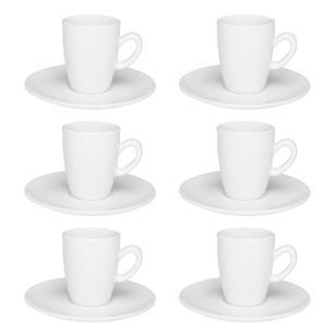 Conjunto de 6 Xícaras Café Expresso 75ml White