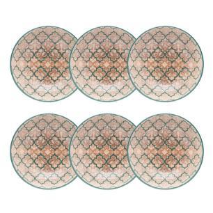 Conjunto de 6 Pratos Fundos 20,5cm Unni Linen
