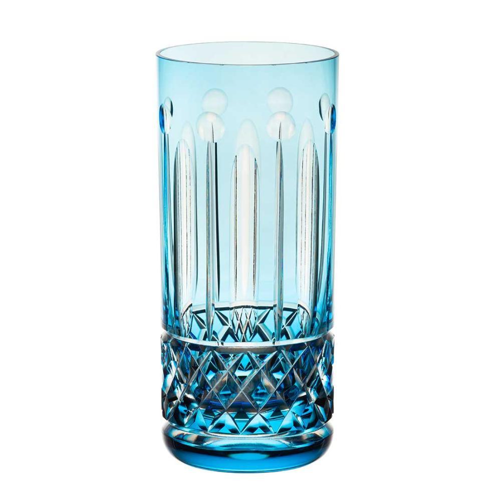 Copo de Cristal Strauss Long Drink 395ml - Azul Claro - 105.142.069.016