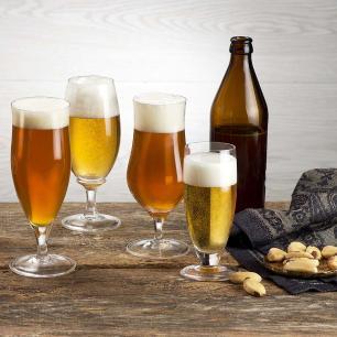 Jogo de 6 Taças de Cristal Cerveja Tulipa 300ml Classic