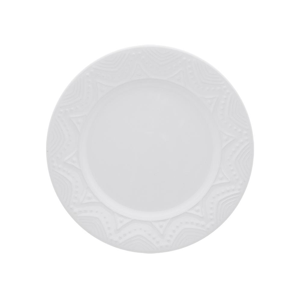 Conjunto de 6 Pratos Sobremesa 20cm Serena White