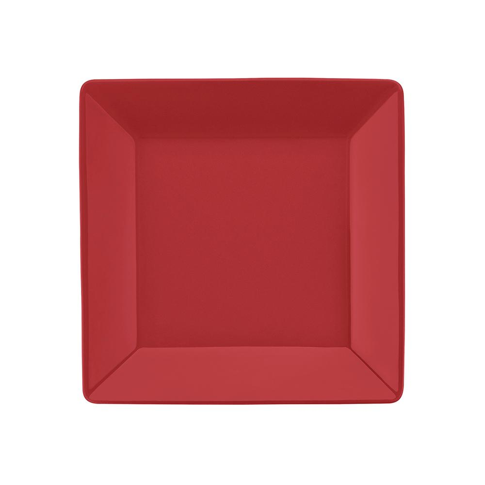 Conjunto de 6 Pratos Sobremesa 20x20cm Quartier Red