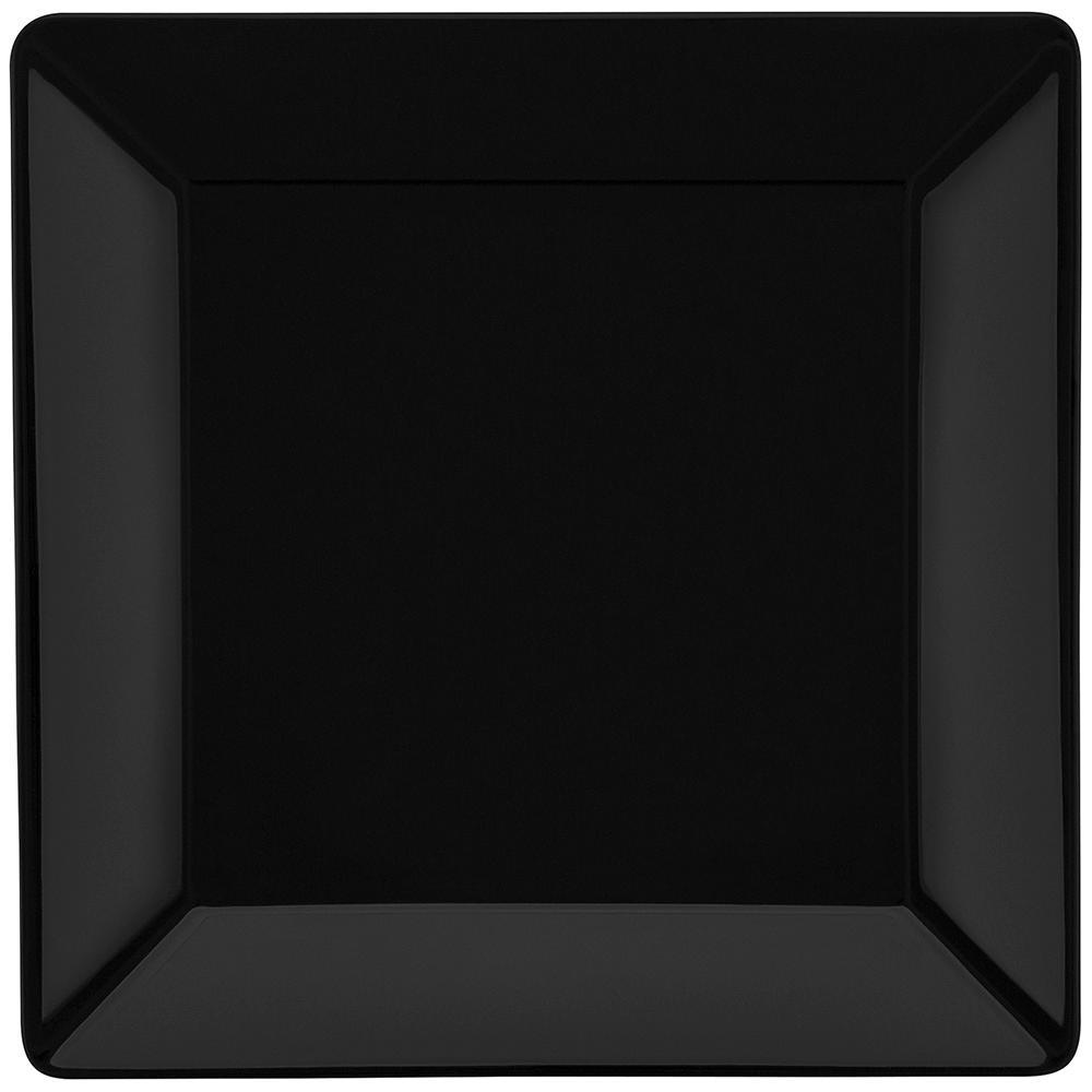 Conjunto de 6 Pratos Rasos 26,5x26,5cm Quartier Black