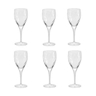 Jogo de 6 Taças de Cristal Vinho Tinto 380ml Twist