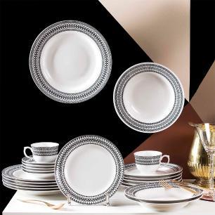 Aparelho de Jantar E Chá 30 Peças Flamingo Sense