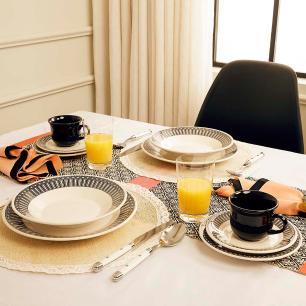Aparelho de Jantar E Chá 30 Peças Actual Nativa