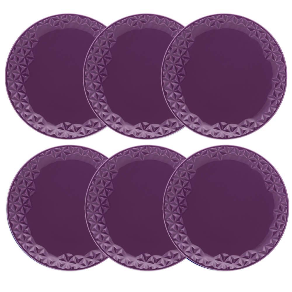 Conjunto de 6 Pratos Rasos 28,5cm Mia Estelar