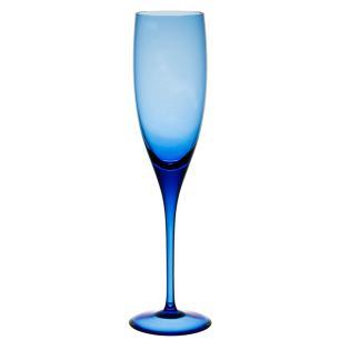 Jogo de 6 Taças Coloridas Espumante 240ml Azul Claro