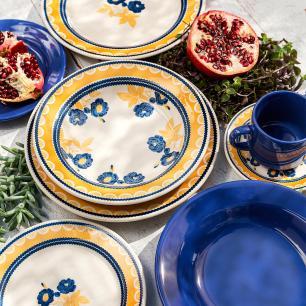 Conjunto de 6 Pratos Sobremesa 19cm Donna Giardino