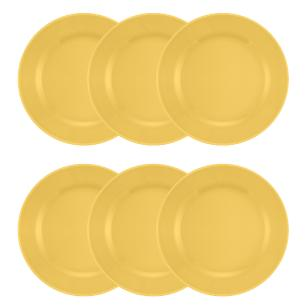 Conjunto de 6 Pratos Rasos 24cm Donna Amarelo
