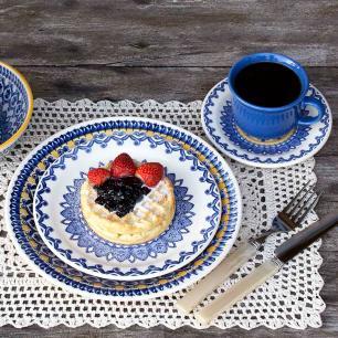 Aparelho de Jantar E Chá 20 Peças Floreal La Carreta