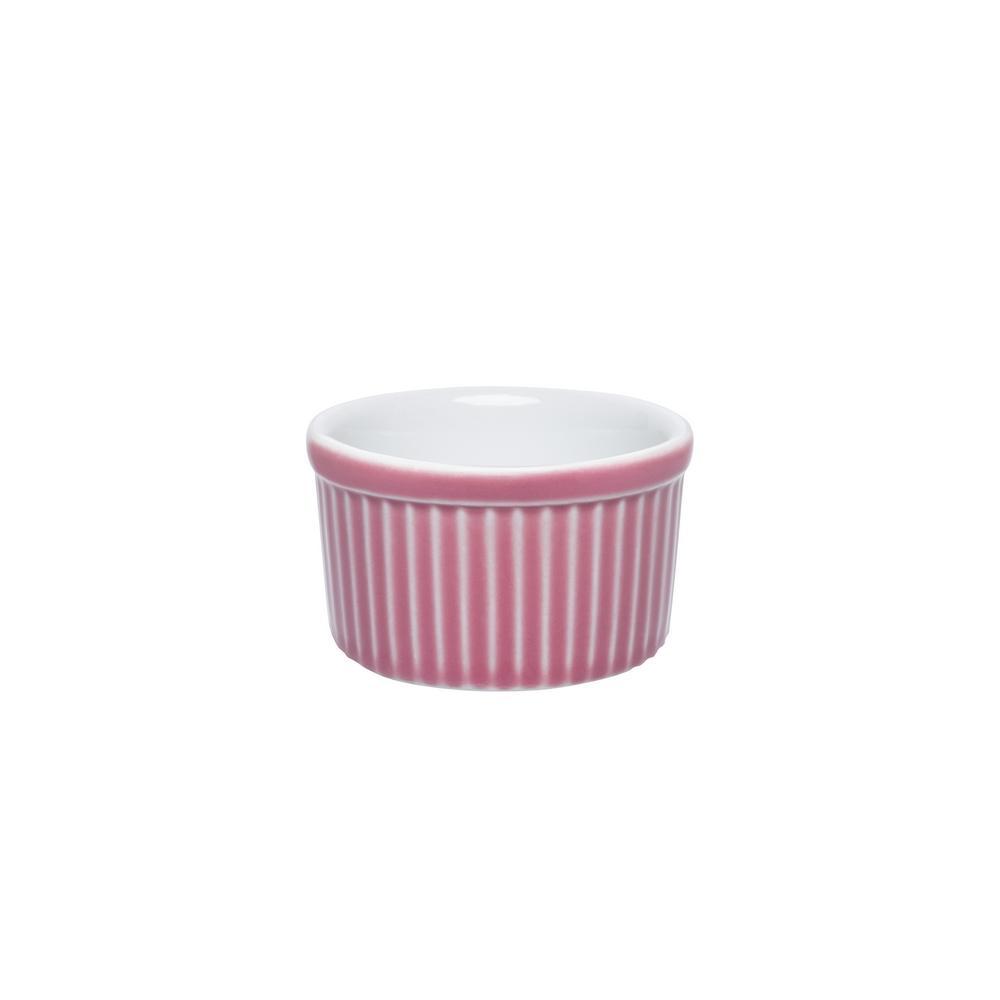 Conjunto de 6 Tigelas Ramequin 50ml Ramequin Branco/Rosa