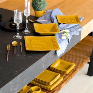 Conjunto de 6 Pratos Sobremesa 20x20cm Provence Minas