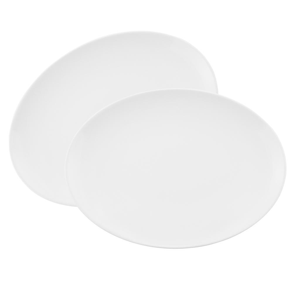Conjunto de 2 Travessas Oval 34,5x25,5cm White