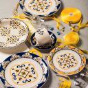 Conjunto de 6 Pratos Sobremesa 20cm Floreal São Luís