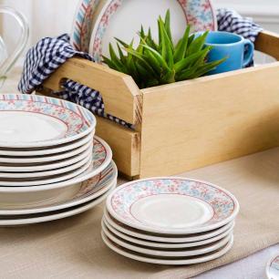 Aparelho de Jantar E Chá 20 Peças Donna Melissa