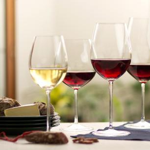 Jogo de 6 Taças de Cristal Vinho Bordeaux 720ml Profissional