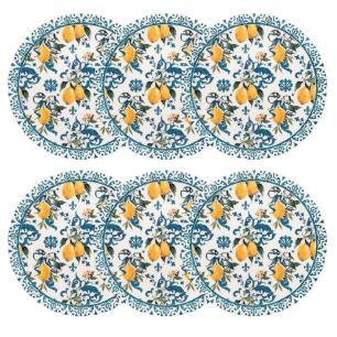 Conjunto de 6 Pratos Rasos 26cm Unni Siciliano