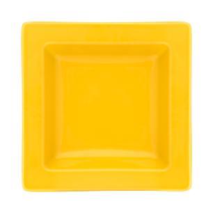 Conjunto de 6 Pratos Fundos 21x21cm Nara Yellow